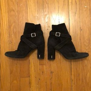 YSL black strap babies boots in size 36